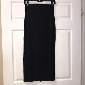 Free People- Skyline Midi Skirt in Black